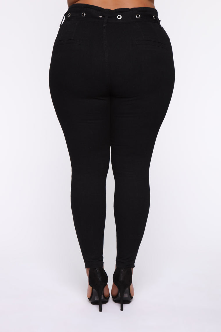 Waisting My Time Skinny Jeans - Black