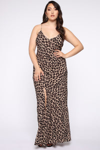 Fierce Attitude Leopard Maxi Dress - Leopard