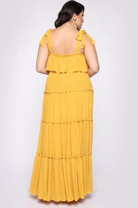 Searching For Your Love Maxi Dress - Mustard