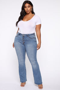 Time For You Flare Jeans - Light Blue Wash