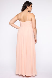 Lavish Occasion Maxi Dress - Blush
