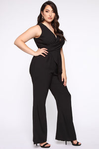 Head Held High Asymmetrical Jumpsuit - Black Angle 8