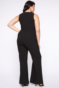Head Held High Asymmetrical Jumpsuit - Black Angle 6