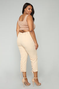 Sexy Type Of Pants - Taupe