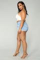 Raleigh Distressed Denim Shorts II - Light Blue Wash