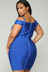 Lyon Bandage Dress - Royal