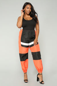 Love Lockdown Flight Joggers - Orange Angle 8