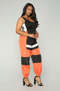 Love Lockdown Flight Joggers - Orange Angle 10