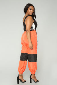 Love Lockdown Flight Joggers - Orange Angle 12