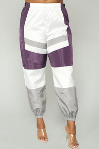 Love Lockdown Flight Joggers - Lavender Combo