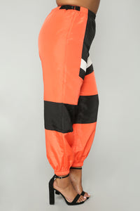 Love Lockdown Flight Joggers - Orange Angle 11