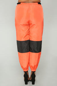 Love Lockdown Flight Joggers - Orange Angle 13