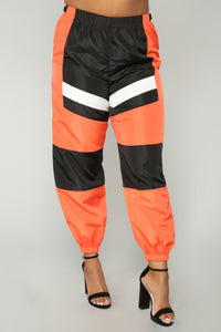 Love Lockdown Flight Joggers - Orange Angle 9