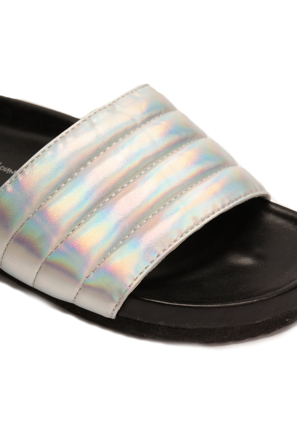 Puffer Than You Think Slides - Silver