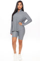 The West Lounge Biker Short Set - Grey