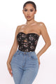 Giver Her Flowers Ruched Tube Top - Black/combo