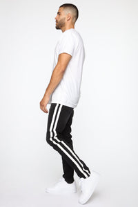 Arthur Striped Skinny Jean - Black Angle 4