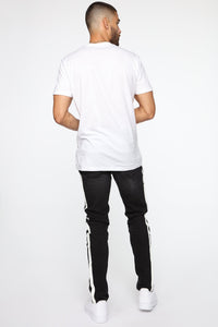Arthur Striped Skinny Jean - Black Angle 6