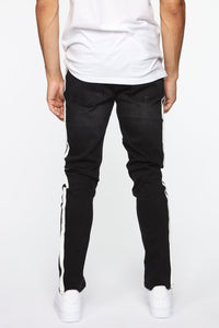 Arthur Striped Skinny Jean - Black Angle 5