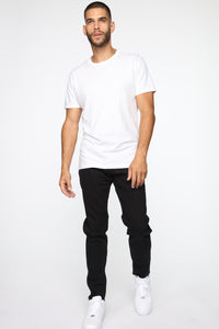 Crosby Slim Tapered Jeans - Black Angle 2