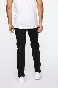Crosby Slim Tapered Jeans - Black Angle 5