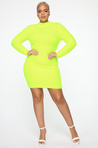 Beverly Hills Babe Dress - Yellow
