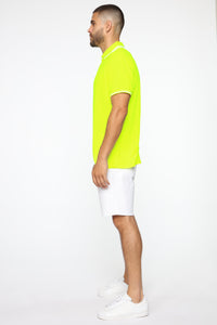 Wilson Short Sleeve Polo - NeonYellow