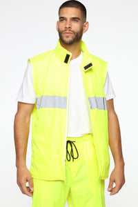 No One Can Stop Me Reflective Jacket - Yellow/Combo