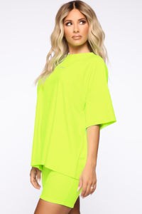Such A Softie Velour Set - Neon Green Angle 4