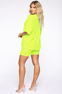 Such A Softie Velour Set - Neon Green Angle 5