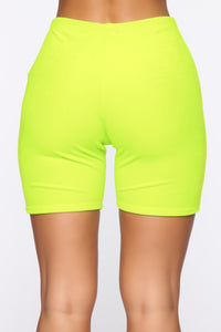Such A Softie Velour Set - Neon Green Angle 8