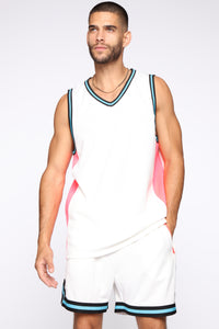 Butler Remix Tank Top - White/combo Angle 1