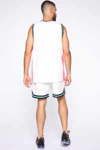 Butler Remix Tank Top - White/combo Angle 5