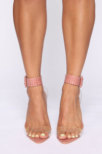 More Than You Know Heeled Sandals - Blush