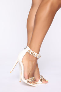 Dance The Night Away Heeled Sandals - White