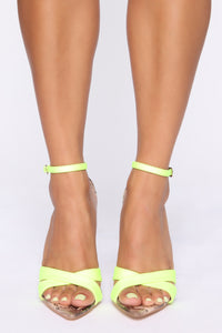 Epic Heeled Sandals - Neon Green