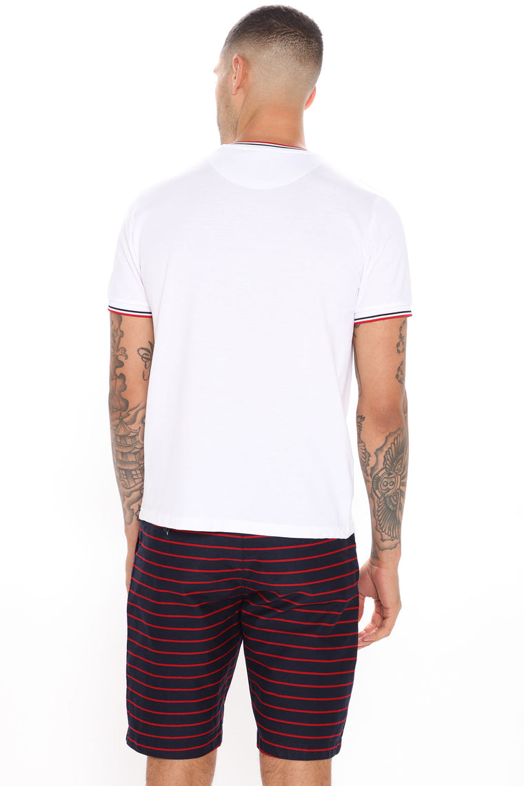 Number One Short Sleeve Tee - White