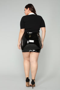 Eliza Chain Strap Skirt - Black