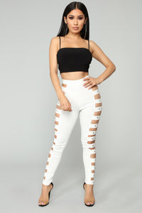 Irina Buckle Pants - White
