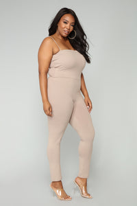 Switch Gears Jumpsuit - Mocha Angle 6