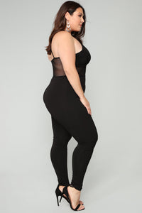 Corner Of Their Eye Jumpsuit - Black