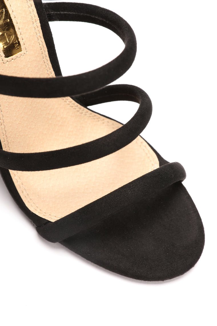 Moonstruck Strap Heel - Black