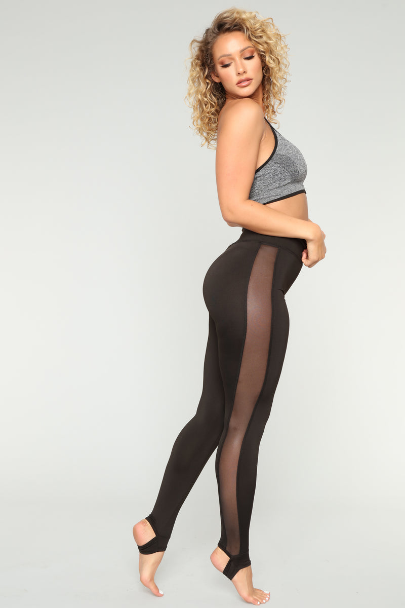 Raine Stirrup Active Leggings - Black
