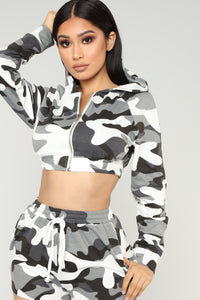 Sergeant Sexy Lounge Set - Black/Grey