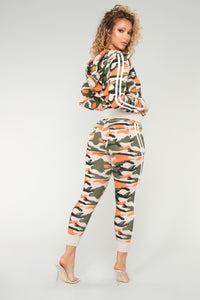 Camo Inside With Me Jacket - Coral