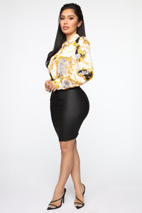 When You Dance Pencil Skirt - Black