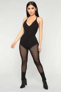 Noemi Active Jumpsuit - Black