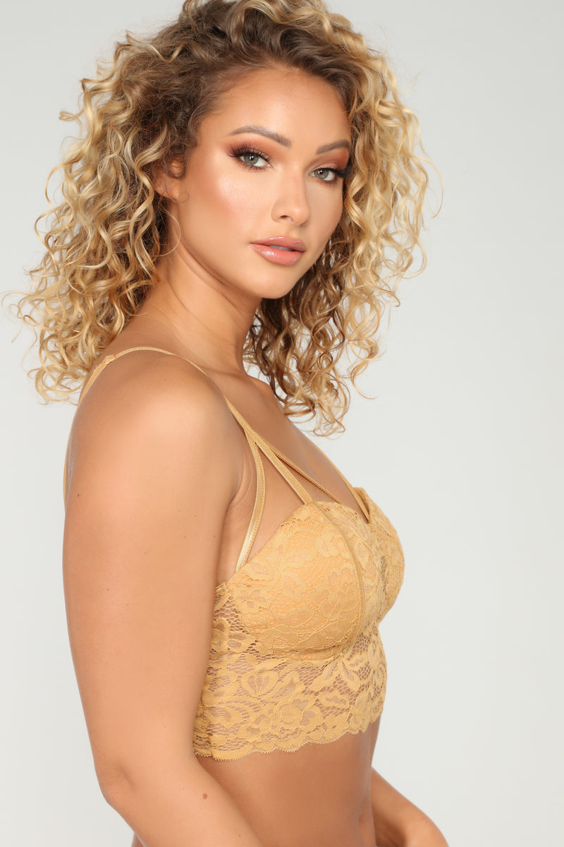 After Midnight Bralette - Mustard