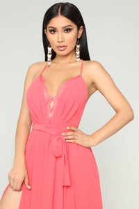 Off The Runway Maxi Dress - Coral