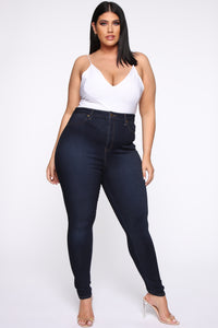 Flex Game Strong Super High Rise Jeans - Dark Blue Wash